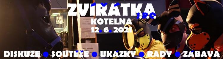 Zvířátka - Kotelna 12. 6. 2021 - diskuze, soutěže, ukázky, rady, zábava